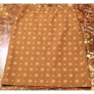 BCBG Max Azria Cotton Pencil Fit Lined Skirt